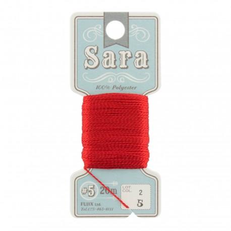 Fil à broder Sara 20m - rouge n°5