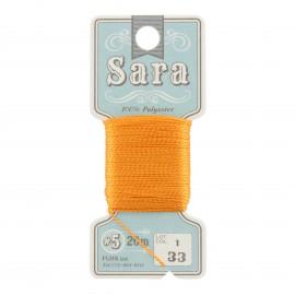 Embroidery thread Sara 20m - orange n° 33