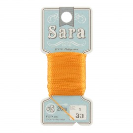 Fil à broder Sara 20m - orange n°33
