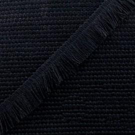 Ruban galon franges Sage 25mm - noir x 1m
