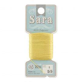Embroidery thread Sara 20m - yellow n° 55