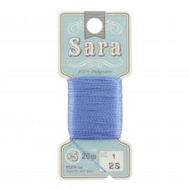 Embroidery thread Sara 20m - blue n° 25