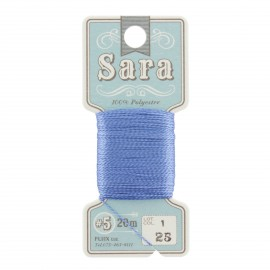 Fil à broder Sara 20m - bleu n°25