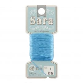 Fil à broder Sara 20m - turquoise n°26