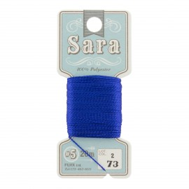 Embroidery thread Sara 20m - royal n°73