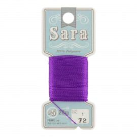 Embroidery thread Sara 20m - purple n° 72