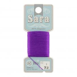 Fil à broder Sara 20m - violet n°72