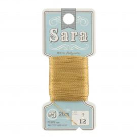 Embroidery thread Sara 20m - caramel n° 12