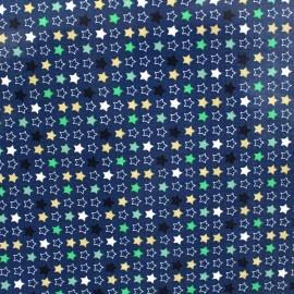 Shiny coated cotton fabric Constellation - blue x 10cm