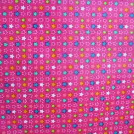 Shiny coated cotton fabric Constellation - multicolore x 10cm