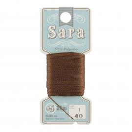 Fil à broder Sara 20m - marron n°40