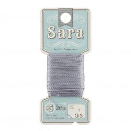 Fil à broder Sara 20m - gris n°35