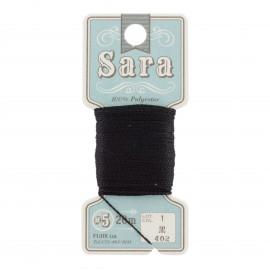 Embroidery thread Sara 20m - black n° 402