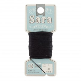 Fil à broder Sara 20m - noir n°402