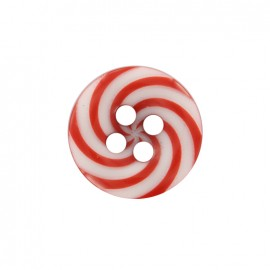 Bouton polyester Lollipop - rouge