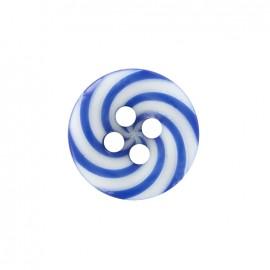 Bouton polyester Lollipop - bleu