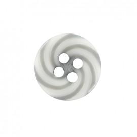 Bouton polyester Lollipop - gris