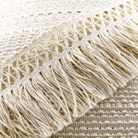 Cotonnade Trimming ribbon crocheted 65mm - ecru x1m