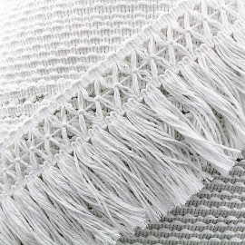 Cotonnade Trimming ribbon crocheted 65mm - white x1m