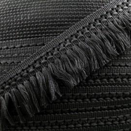 Ruban galon franges dentelle au crochet 65mm - noir x 1m