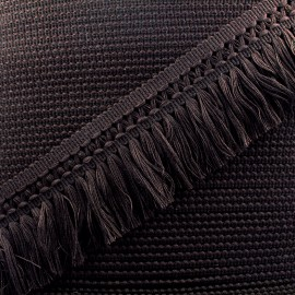 Ruban galon franges dentelle au crochet 65mm - chocolat x 1m
