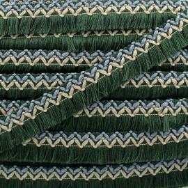 Galon tissé à franges Jamayca - multi vert x 1m