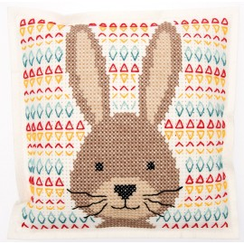 Embroidery kit Rico Design cushion - Rabbit