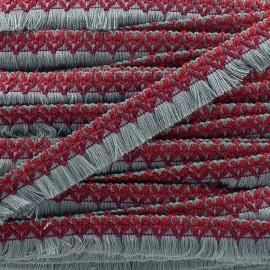 Galon tissé à franges Jamayca - multi gris x 1m