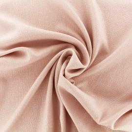 Tissu crêpe gaufré irisé - rose/argent x 10cm