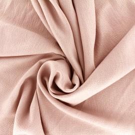 Tissu crêpe gaufré irisé - rose/doré x 10cm