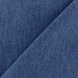 Plain fluid denim jeans fabric - blue x 10cm