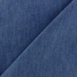 Tissu Jeans fluide uni denim - bleu x 10cm