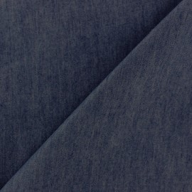 Plain fluid denim jeans fabric - night blue x 10cm