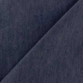 Tissu Jeans fluide uni denim - bleu nuit x 10cm