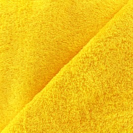 Tissu éponge Thalasso - jaune x 10cm