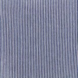 ♥ Coupon 10 cm X 140 cm ♥ Jeans fabric Matelot - navy