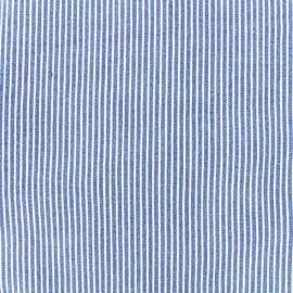 ♥ Coupon 10 cm X 140 cm ♥ Jeans fabric Matelot - blue