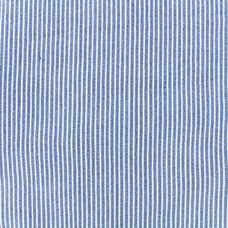 Tissu jeans Matelot - bleu x 10cm
