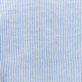 Jeans fabric Matelot - sky blue x 10cm