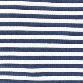 Tissu Jersey molletonné Matelot - bleu x 10cm