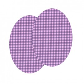 Elbow-pads/Knee-pads Iron On Vichy FrouFrou - Lavender rose