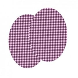 Genouillères-coudières thermocollants Vichy FrouFrou - Prune Délicate