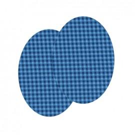 Genouillères-coudières thermocollants Vichy FrouFrou - Bleu Intense