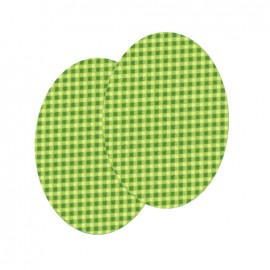 Genouillères-coudières thermocollants Vichy FrouFrou - Jardin d'oliviers
