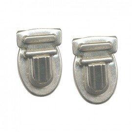 Nickel-plated bag fastener 35mm - silver