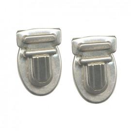 Nickel-plated bag fastener 35mm - silver
