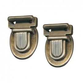 Nickel-plated bag fastener 35mm - bronze