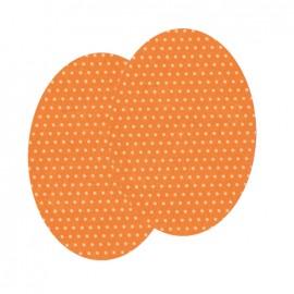 Genouillères-coudières thermocollants Pois FrouFrou - Mandarine