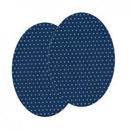 Genouillères-coudières thermocollants Pois FrouFrou - Bleu Intense