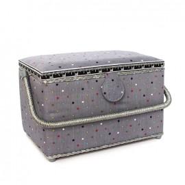 Sewing box Constellation - grey